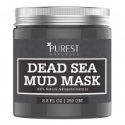 Purest Naturals Dead Sea Mud Mask - Best Facial Mask For Acne, Oily Skin & Blackheads - 100% Natural & Organic Deep Skin Cleanser - Reduces Signs Of Ageing, Pores & Wrinkles - Ultimate Spa Quality