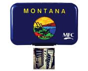 MFC Optional Leaf Poly Fly Box - Montana State Flag - Leaf Included