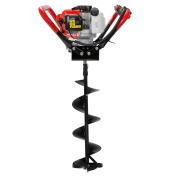 XtremepowerUS V-Type 55CC 2 Stroke Gas Ice Post Hole Digger W/20cm Ice Auger Bit