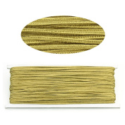 Linsoir Beads 3MM Soutache Braided Cord String Beading Sewing Quilting Trimming Yellow Colour 34 Yards/31 Metres