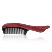 Handmade Natural Buffalo Horn & Purple Heart Wood Massage Hair Combs