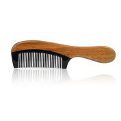 No Static Handmade Wooden Detangling Comb & Natural Sandalwood Ox horn Comb with Premium Gift Box