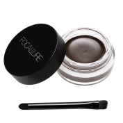 eshion Professional Makeup Waterproof Eyebrow Definition Cream Eye Brow Gel with Brush 24ML