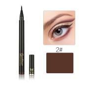 Wisdompark Black & Brown Liquid Eyeliner Pencil Cosmetic Waterproof Long Lasting Smooth Meticulous Eye Liner Pen