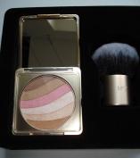 BOOTS No 7 Shimmer Palette 7 g / 5ml with Round Kabuki Brush Sun Swept Bronzing Set Limited Edition