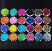 XICHEN 24 Colours Nail Art Make Up Glitter Shimmer Dust Powder Decoration
