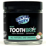 All Natural Charcoal Teeth Whitening Gum Powder -Mint Flavour- Made with Organic Coconut Activated Charcoal and Bentonite Clay Formula for Stronger Healthy White Teeth.No need for Strips, Kits or Gel.