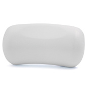 uxcell White Neck Back Support Headrest Comfort Bathtub Tub Bath Spa Pillow Cushion w/ 2 Suction Cups