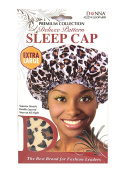 Donna Premium Collection Deluxe Pattern Extra Large Sleep Cap Leopard Pattern 22274