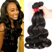 Moda Mode Hair Grade 8A Brazilian Human Hair Extensions Body Wave, Unprocessed Virgin Hair Brazilian Weave 3 Bundles Natural Colour Weft