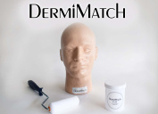 Practise Head + Re-skin Kit for smp scalp micropigmentation by DermiMatch