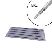 Biomaser 50PCS Professional 9RL Disposable Sterilised Tattoo Needles 9 Round Liner Supply Set