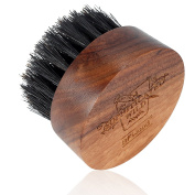 BFWood Beard Brush Boar Bristles Small Round Shape with Travel Case