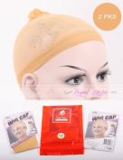 2 Pack Stocking Wig Cap 2 Pcs Per Pack Neutral Nude Colour