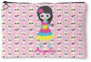 Kids Sugar Skulls Zipper Pouch
