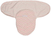 Little Beginnings Flannel Fleece Swaddle Sack, Floral Pink Chevron Print