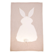 Creazy Kids Rabbit Knitting Blanket Bedding Quilt Play Blanket