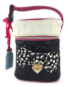 Betsey Johnson Quilted Bone Black Duel Baby Bottle Holder Insulated Lunch Tote Bag