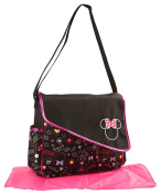 Disney Minnie Mouse Nappy Bag with Asymetrical Flap, Graffiti Print