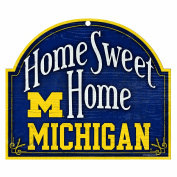 Wincraft Michigan Wolverines 11x9 Home Sweet Home Wood Sign