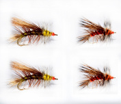12 Pieces Dry Fly, Wet Fly, Nymph and Streamer Fly Lure Assotment + Fly Box for Trout Fly Fishing Flies
