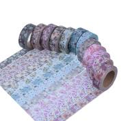 Antner Floral Pattern Washi Masking Tape Collection, Set of 12 Rolls