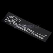Clear Bling Rhinestone Bridesmaid Sticker Wedding Bridal Transfer DIY Applique