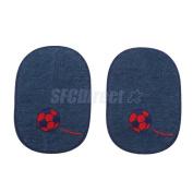 Paire Fabric of Denim Elbow Knee Patches Repair Decor Sewing Applique Crafts #7
