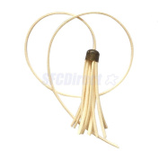 Hanging Velvet Tassel with Cap Pendants Charms for DIY Jewellery Bag Clothes Decor #Beige