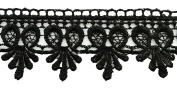 Craft Venice Lace Black Sewing Lace Supplies Trim 4.3cm Wide By 1 Yard