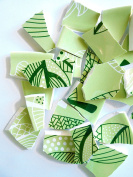 55 Bright Green Mosaic Tiles, Broken China Mosaic Pieces, Ceramic Mosaic Tiles, Mosaic Art Supplies, Tile Mosaic Supply, Mosaic Craft Tiles, Broken Dish Pieces, Lime Green Tiles