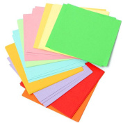 100 Sheets Colourful Double Sided 1010cm DIY Craft Origami Square Paper Lucky Wish Gift Folding Paper