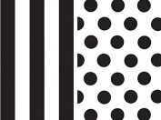 Black & White Tissue Paper Bundle for Gift Wrapping, 24 Sheets, Stripe/Polka Dot