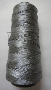 SILVER grey - 275+ Yards - Viscose Rayon Art Silk Thread Yarn - Embroidery Crochet Knitting Lace Jewellery Trim