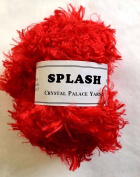 "Crystal Palace Splash #8610cm Lacquer Red"" Feather Boa Eyelash Yarn 100 gramme 85 Yards"