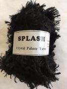 """Crystal Palace Splash #202 """"Ebony"""" Black Feather Boa Eyelash Yarn 100 gramme 85 Yards"""