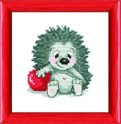 Embroidery Counted cross stitch kit Charivna mit #312 Hedgehog Animals 15x15 cm / 5.91x5.91 in