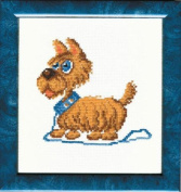 Embroidery Counted cross stitch kit Charivna mit #293 Dog Animals 18x18 cm / 7.09x7.09 in
