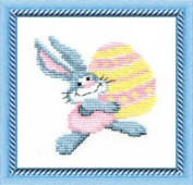 Embroidery Counted cross stitch kit Charivna mit #274 Hare Animal rabbit 15x15 cm / 5.91x5.91 in