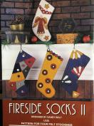 Fireside Socks II - Pattern for 4 Felt Stockings