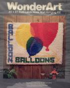 WonderArt 50cm x 70cm Latch Hook Wall Hanging Kit #4320 Balloons
