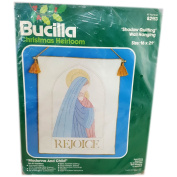 "Bucilla Christmas Heirloom ""Rejoice"" Shadow Quilting Wall Hanging 41cm x 50cm Kit No. 82113"
