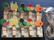 Colourful Wooden Pegs, Photo Paper Wooden Clips, Cute Gifts Stationery,Kid's Party Gift,120pieces
