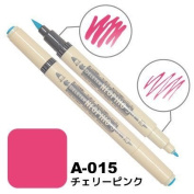 Deleter Neopiko-3 Watercolour Dual-Tip Marker Pen Single [ A-015 Cherry Pink ] [For Cloth and Paper Use] for Comic Manga Graphic Art Illustration