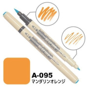 Deleter Neopiko-3 Watercolour Dual-Tip Marker Pen Single [ A-095 Mandarin Orange ] [For Cloth and Paper Use] for Comic Manga Graphic Art Illustration