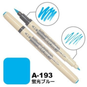 Deleter Neopiko-3 Watercolour Dual-Tip Marker Pen Single [ A-193 Fluorescent Blue ] [For Cloth and Paper Use] for Comic Manga Graphic Art Illustration