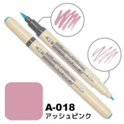 Deleter Neopiko-3 Watercolour Dual-Tip Marker Pen Single [ A-018 Ash Pink ] [For Cloth and Paper Use] for Comic Manga Graphic Art Illustration
