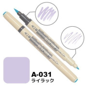 Deleter Neopiko-3 Watercolour Dual-Tip Marker Pen Single [ A-031 Lilac ] [For Cloth and Paper Use] for Comic Manga Graphic Art Illustration