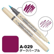 Deleter Neopiko-3 Watercolour Dual-Tip Marker Pen Single [ A-029 Dark Purple ] [For Cloth and Paper Use] for Comic Manga Graphic Art Illustration