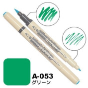 Deleter Neopiko-3 Watercolour Dual-Tip Marker Pen Single [ A-053 Green ] [For Cloth and Paper Use] for Comic Manga Graphic Art Illustration